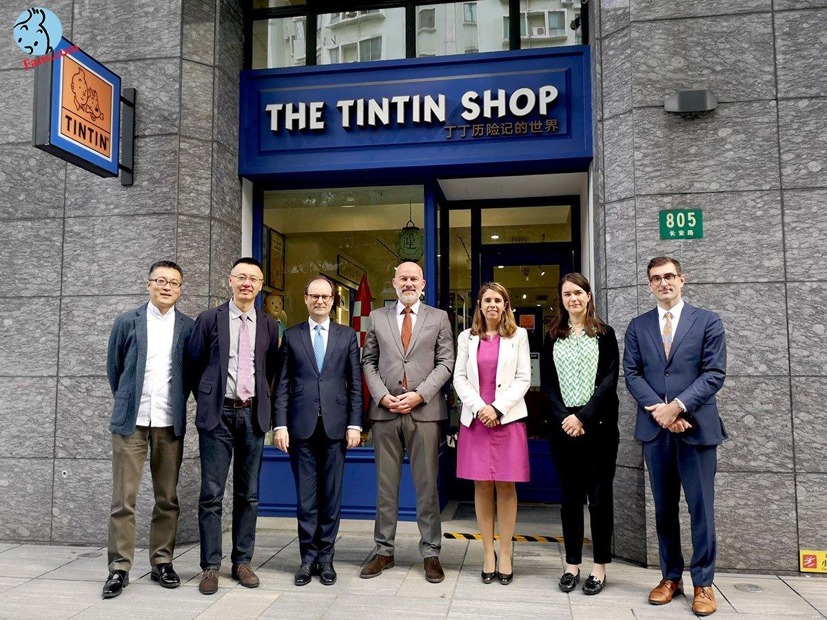 سفیر بلژیک از فروشگاه تن تن در شانگهای دیدن کرد