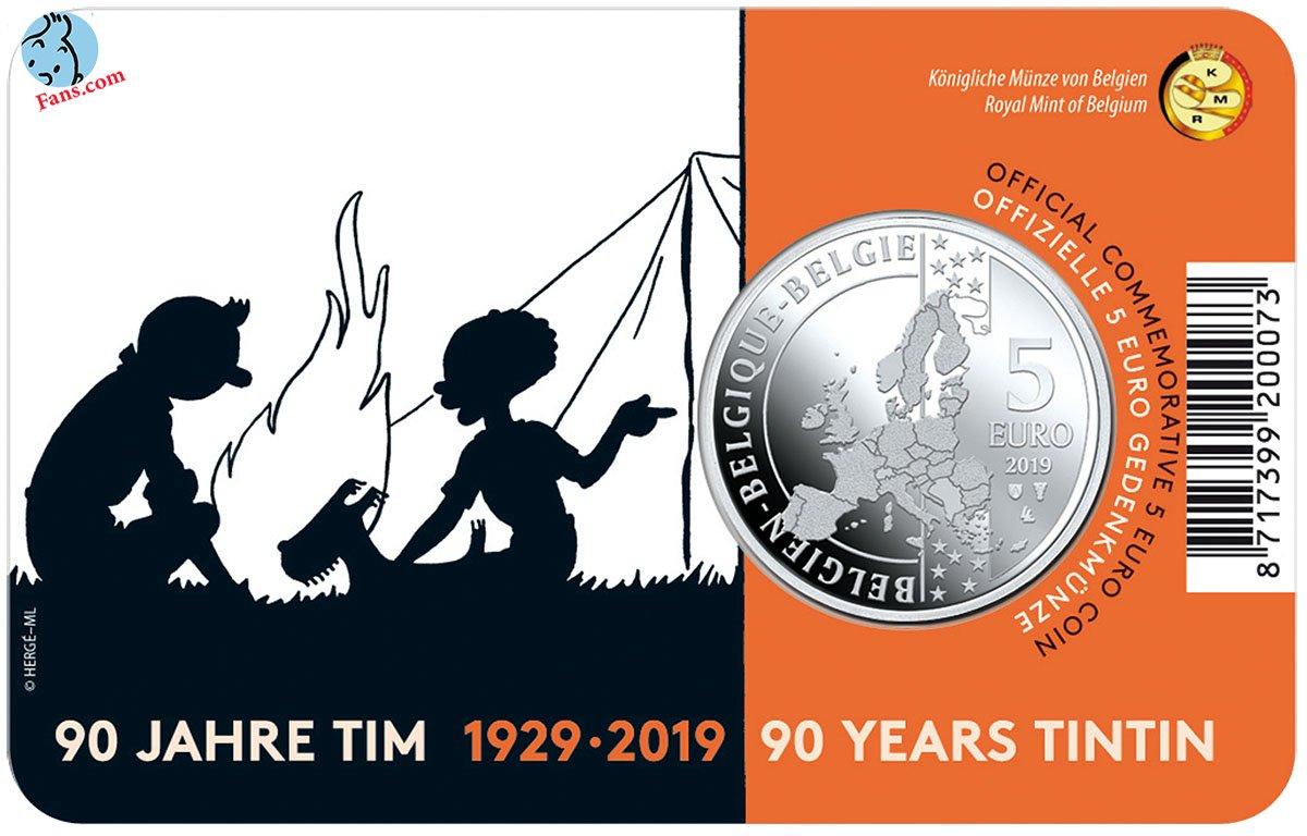 سکه های رسمی به مناسبت تولد 90 سالگی تن تن