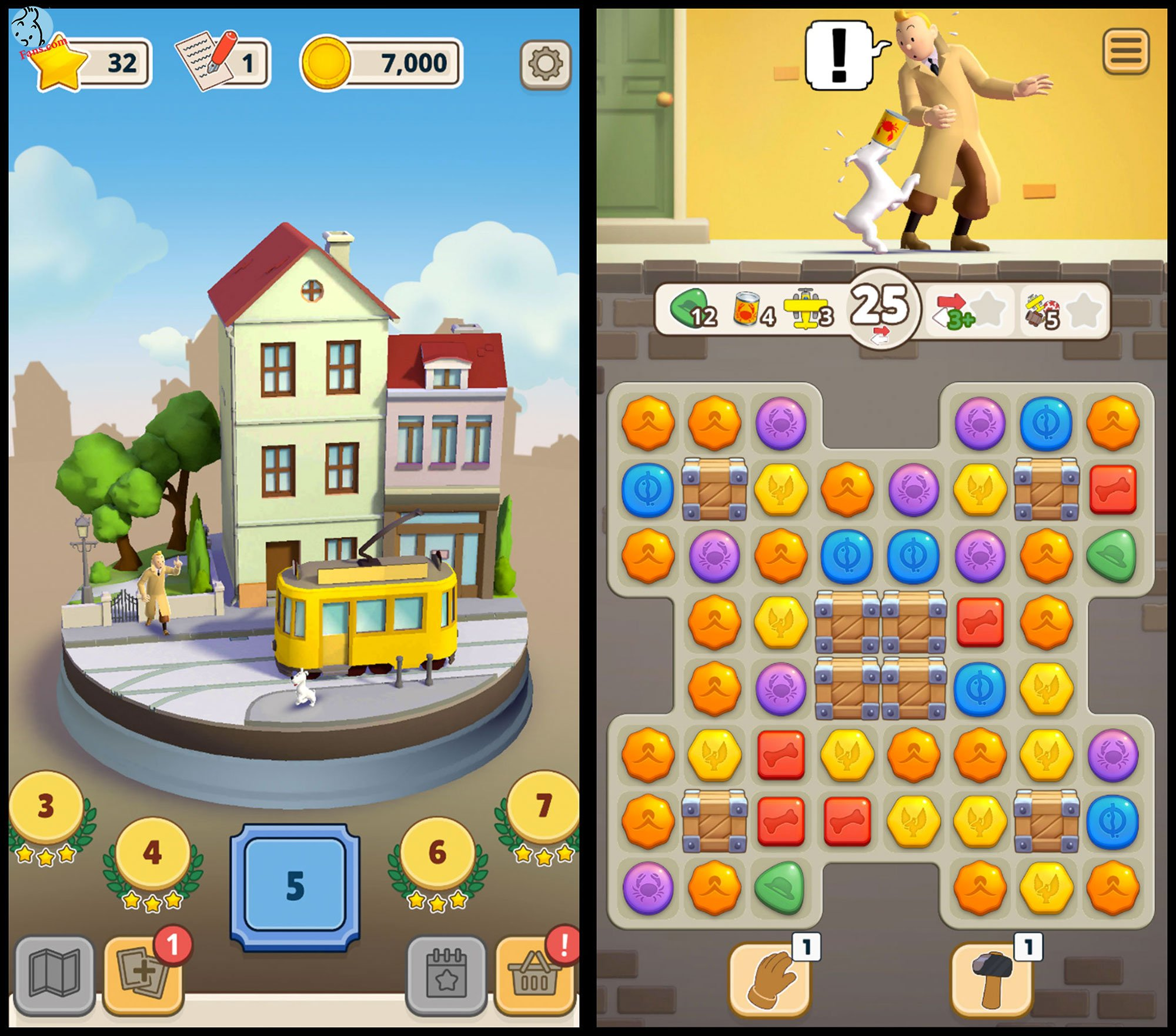 بازی جدیدی از تن تن برای موبایل و تبلت